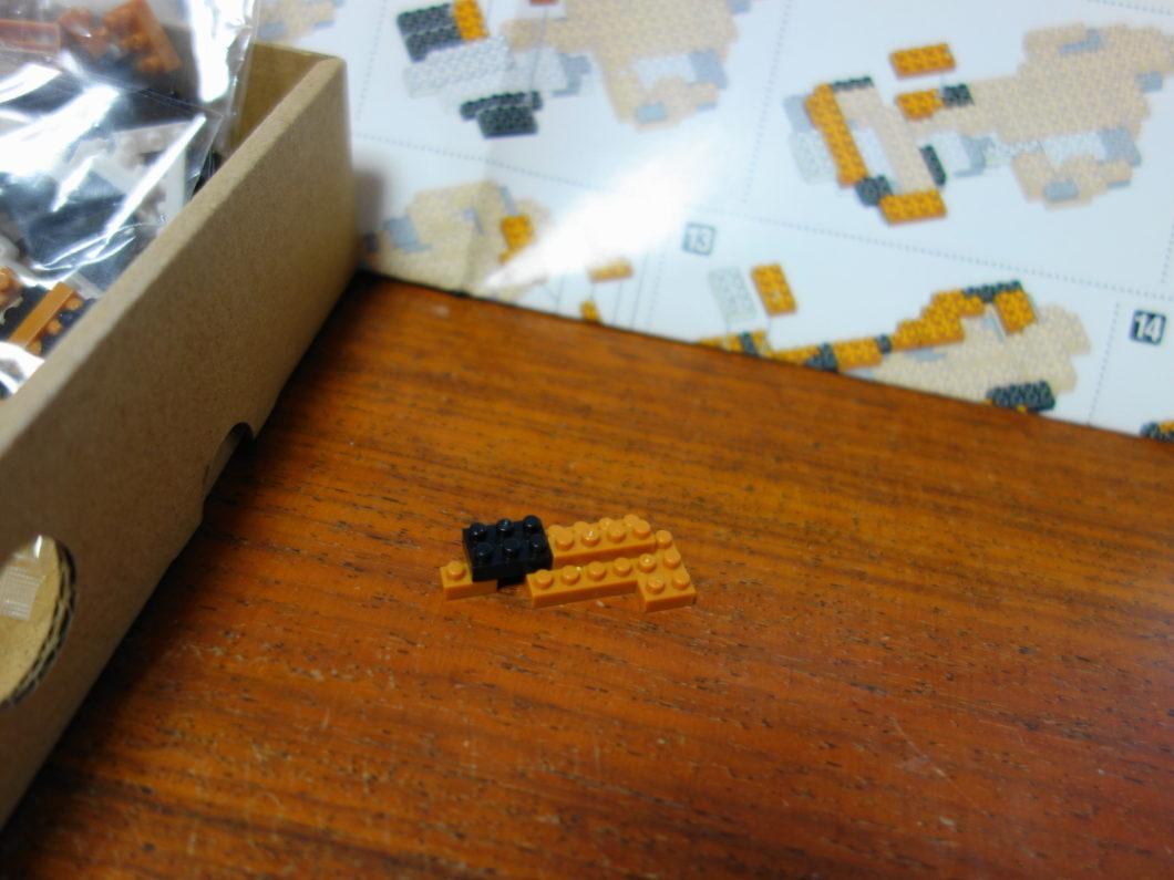 ナノブロックを組み合わせたもの