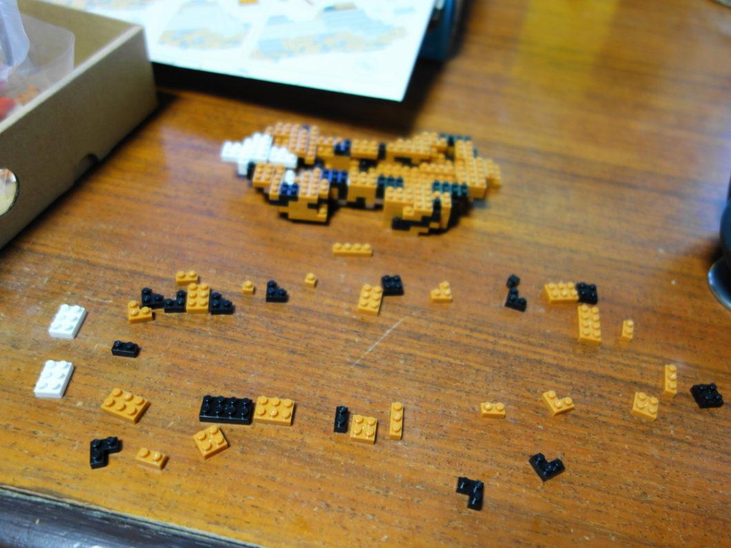 1回の手順で使用するナノブロック