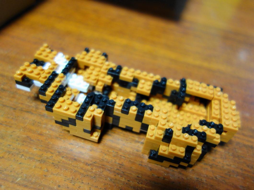 ボリュームを増したナノブロックのベンガルトラ