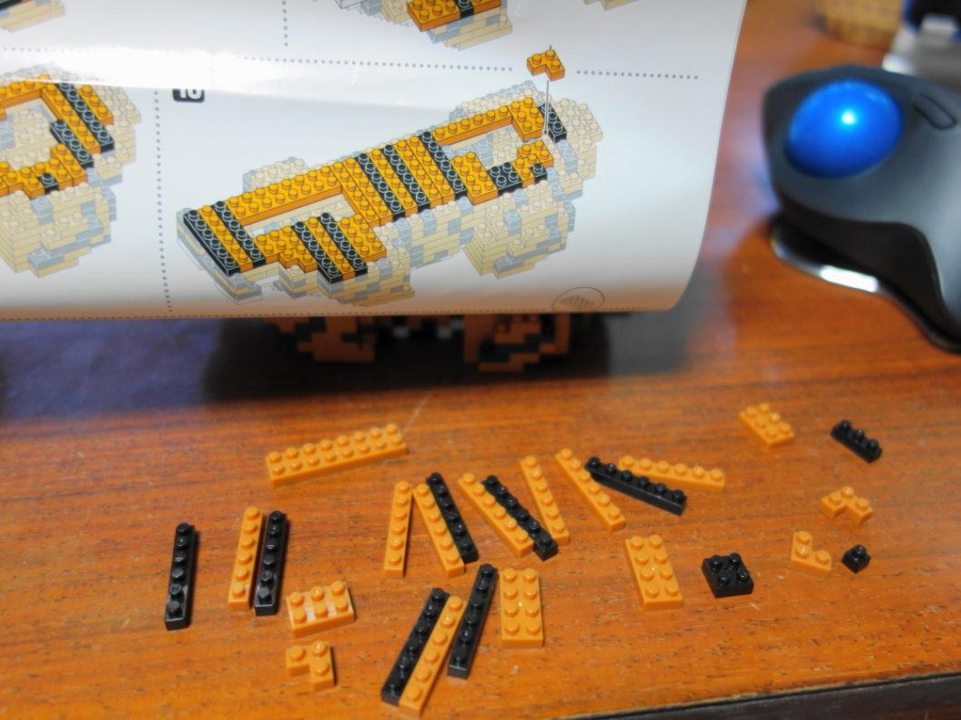 棒状のブロックばかりを使う例