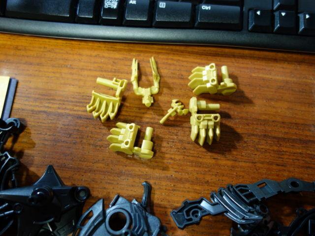 ビーストライガーの爪のカラーリング例