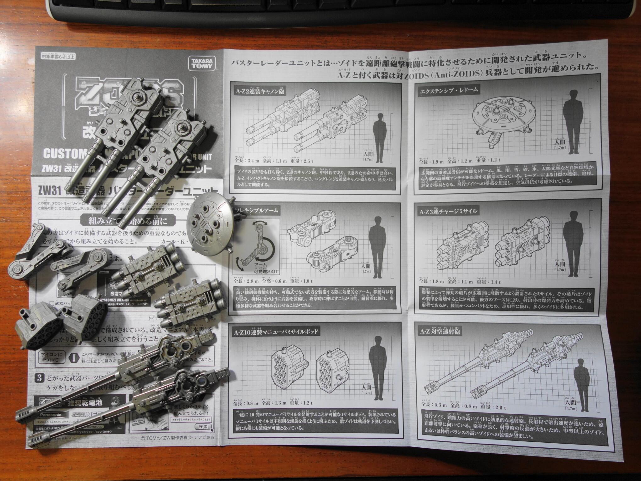 バスターレーダーユニットの武装紹介