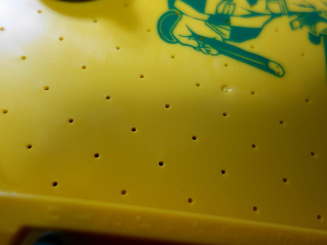盤上の空気噴出口